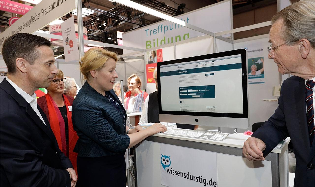 Franziska Giffey auf dem Deutschen Seniorentag 2018