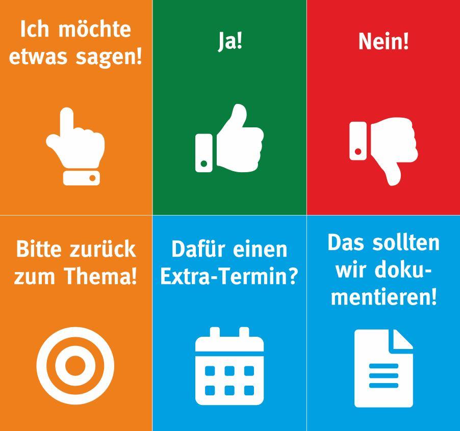 Moderationskarten für Videokonferenzen
