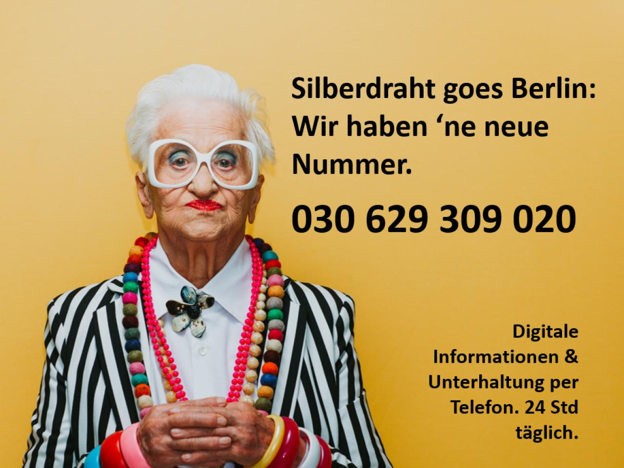 Banner mit Telefonnummer zu Silberdraht: 030 629 309 020